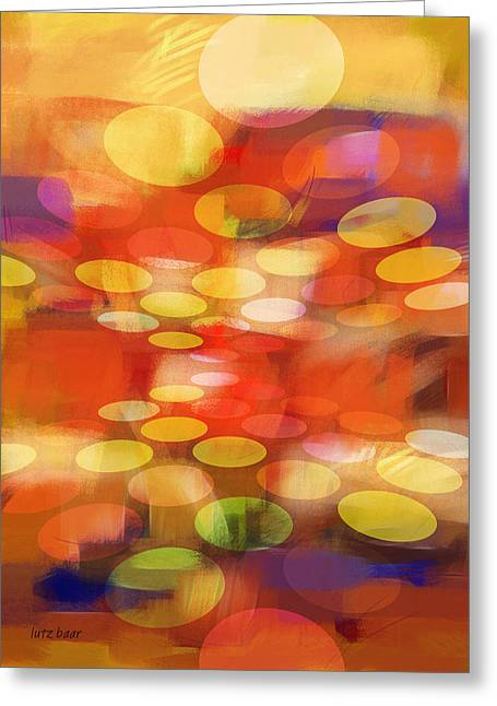 Abstract Field Greeting Cards - Formation Greeting Card by Lutz Baar