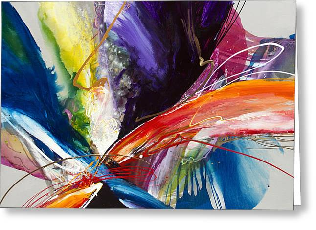 Best Sellers -  - Abstract Expressionist Greeting Cards - Formation of Desire Greeting Card by Jonas Gerard