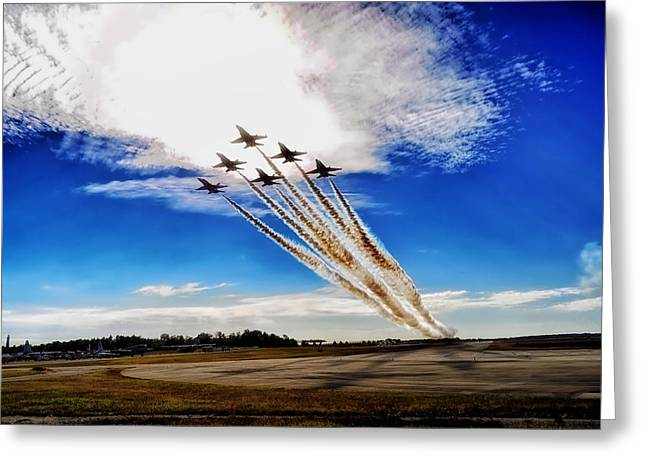 Recently Sold -  - Angel Blues Greeting Cards - Formation to the Clouds Greeting Card by Mountain Dreams