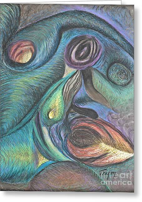 Formation Drawings Greeting Cards - Formations Greeting Card by Loretta Tryon