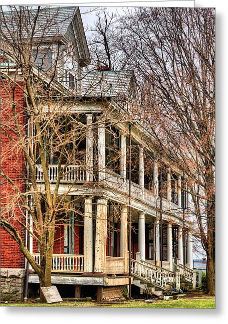 Officers Quarters Greeting Cards - Former Grandeur  Greeting Card by JC Findley