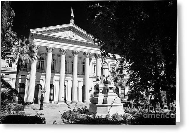 former national congress building Santiago Chile Greeting Card by Joe Fox