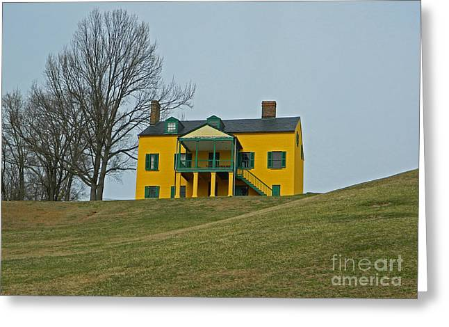 Officers Quarters Greeting Cards - Formerly Commanding Officers Quarters 2 - Fort Washington MD Greeting Card by Emmy Marie Vickers