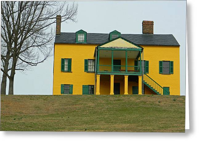Officers Quarters Greeting Cards - Formerly Commanding Officers Quarters - Fort Washington MD Greeting Card by Emmy Marie Vickers