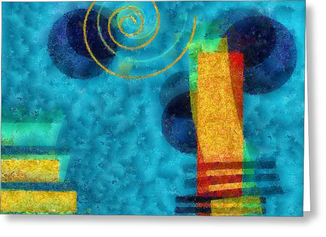 Rectangles Digital Art Greeting Cards - Formes 02b Greeting Card by Variance Collections