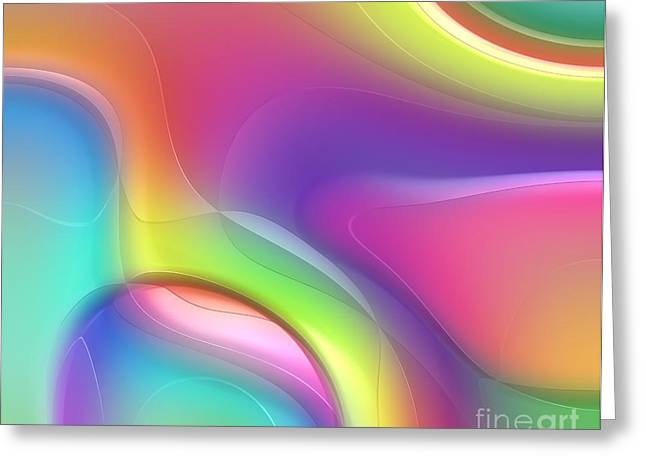 Forms Digital Art Greeting Cards - Formes Lascive - 5464 Greeting Card by Variance Collections