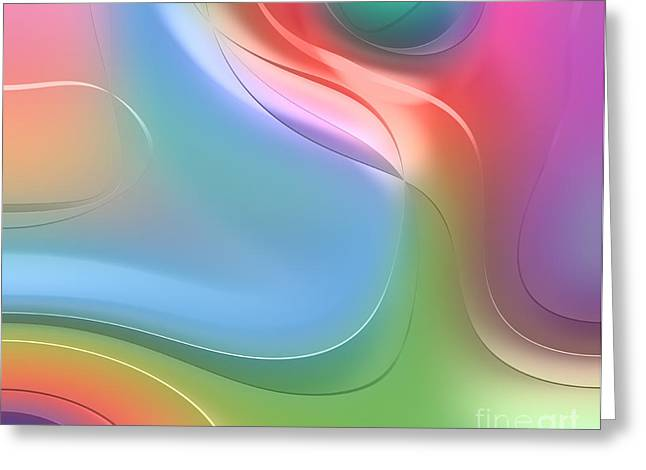 Forms Digital Art Greeting Cards - Formes Lascive - 5469 Greeting Card by Variance Collections