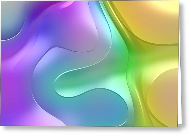 Forms Digital Art Greeting Cards - Formes Lascives - 1114 Greeting Card by Variance Collections