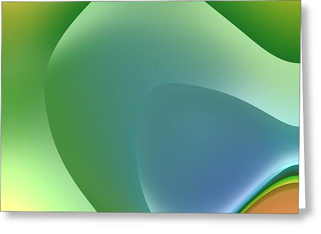 Forms Digital Art Greeting Cards - Formes Lascives - 5438 Greeting Card by Variance Collections