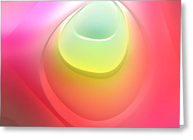 Pink Digital Greeting Cards - Formes Lascives - s55c03 Greeting Card by Variance Collections