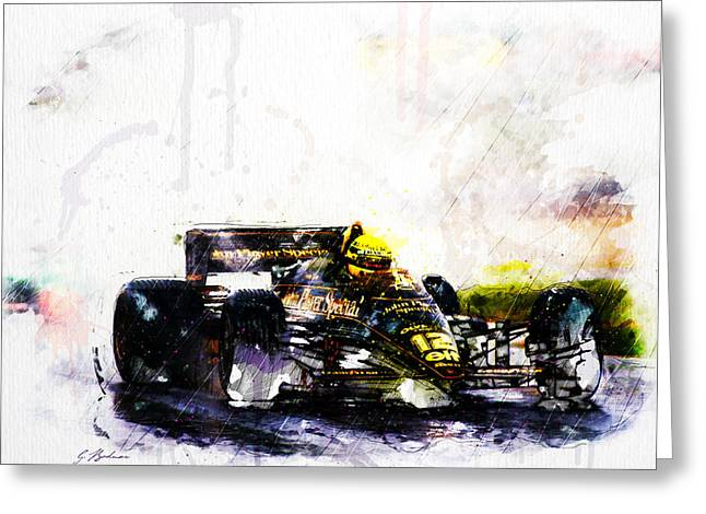 Fast Cars Greeting Cards - Formula 1 John Player Special Greeting Card by Gary Bodnar