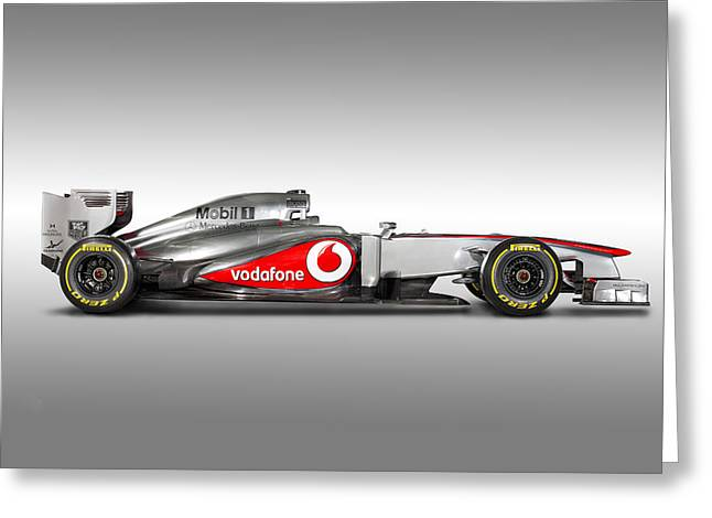2013 Greeting Cards - Formula 1 McLaren MP4-28 2013 Greeting Card by Gianfranco Weiss