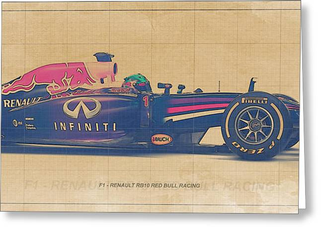 Formula 1 Renault Rb10 Greeting Card by Pablo Franchi