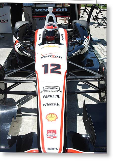 Indy Car Greeting Cards - Formula One Greeting Card by Rob Luzier