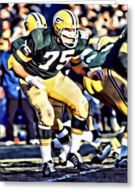 Greenbay Greeting Cards - Forrest Gregg Greeting Card by Florian Rodarte