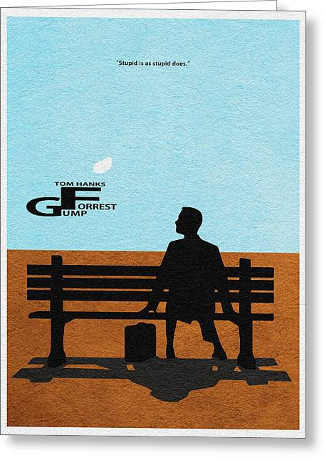 Forrest Gump Greeting Card by Ayse Deniz