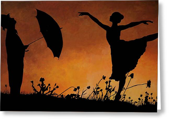 Umbrella Greeting Cards - Forse Non Piove Greeting Card by Guido Borelli