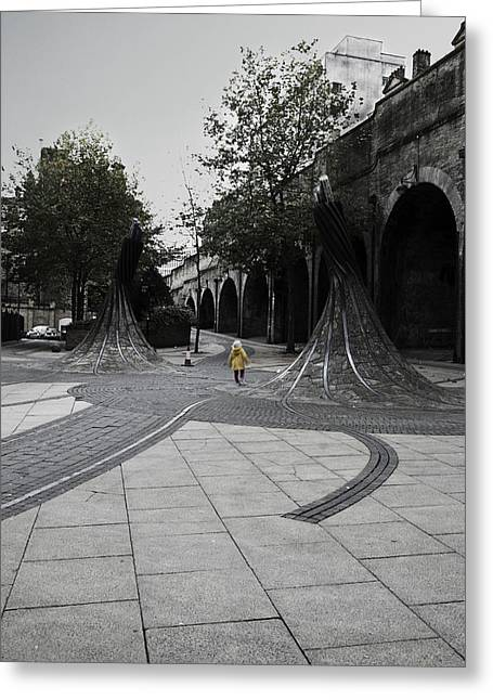 Riley Handforth Greeting Cards - Forster Square Greeting Card by Riley Handforth