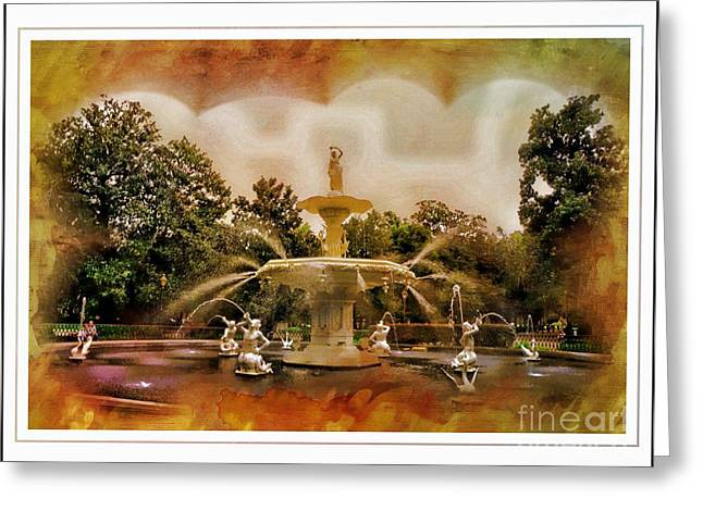 Struckle Greeting Cards - Forsyth Park Fountain Greeting Card by Kathleen Struckle