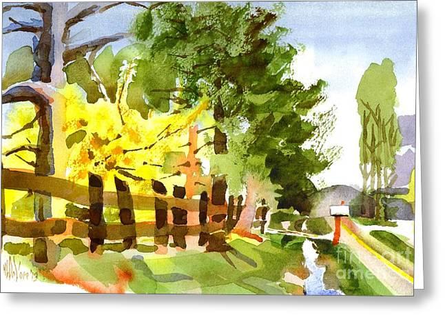Forsythia Greeting Cards - Forsythia in Bloom Greeting Card by Kip DeVore