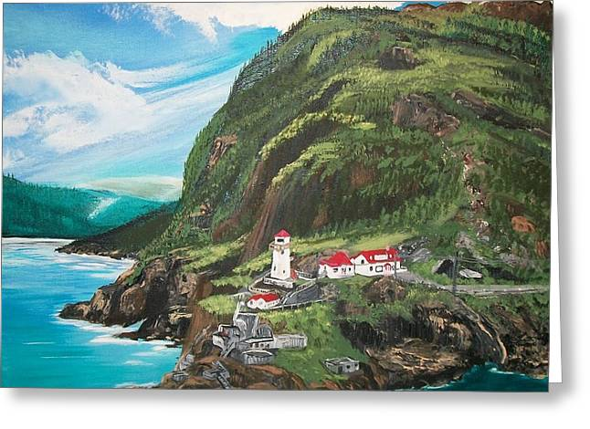 Historic Site Greeting Cards - Fort Amherst Newfoundland Greeting Card by Sharon Duguay
