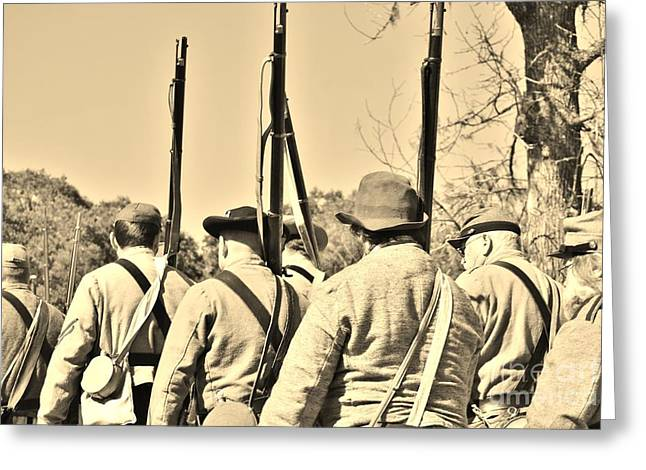 Confederate Hospital Greeting Cards - Civil War Photography 2 Greeting Card by Jocelyn Stephenson