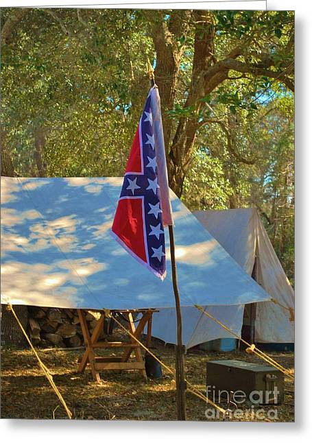 Confederate Encampment At Fort Anderson  Greeting Card by Jocelyn Stephenson