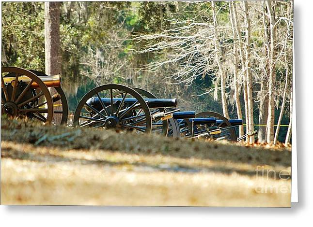 Confederate Hospital Greeting Cards - Fort Anderson Civil War Cannons Greeting Card by Jocelyn Stephenson