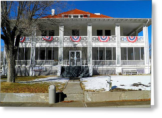 Fort Bayard Commandant's House Greeting Card by Feva  Fotos