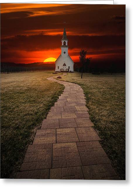 Http Greeting Cards - Fort Belmont Sunset 2014 Greeting Card by Aaron J Groen