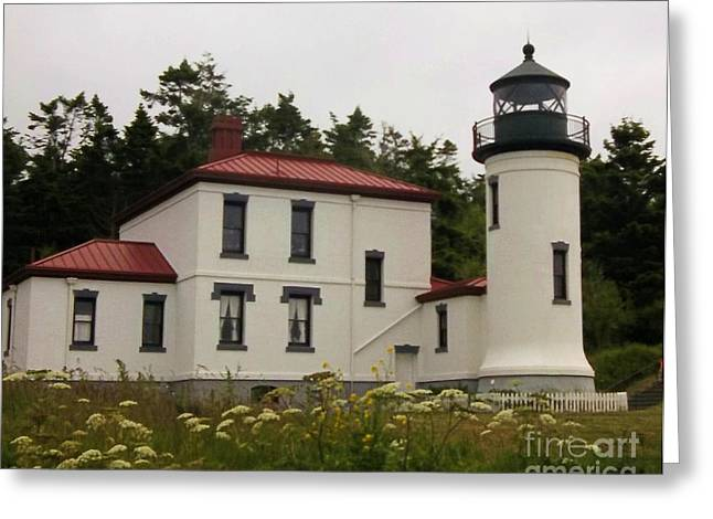 Fort Casey Greeting Cards - Fort Casey Lighthouse Greeting Card by Camille Brighten