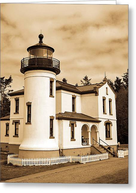 Fort Casey Greeting Cards - Fort Casey Lighthouse Greeting Card by Michele Wright