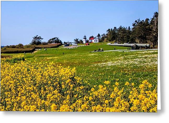 Fort Casey Greeting Cards - Fort Casey Spring Greeting Card by Rick Lawler