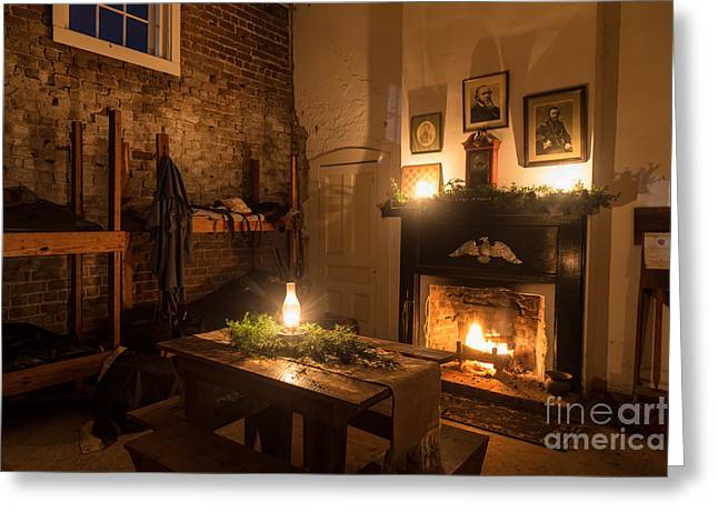 Beach At Night Greeting Cards - Fort Clinch by Candlelight Amelia Island Florida Greeting Card by Dawna  Moore Photography