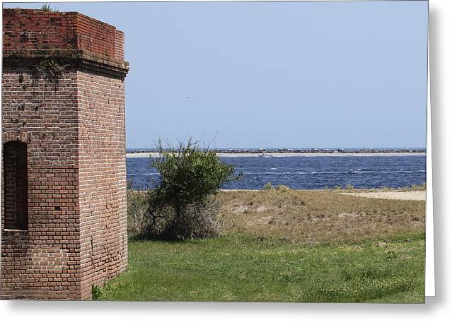 Civil War Battle Site Greeting Cards - Fort Clinch Greeting Card by Cathy Lindsey