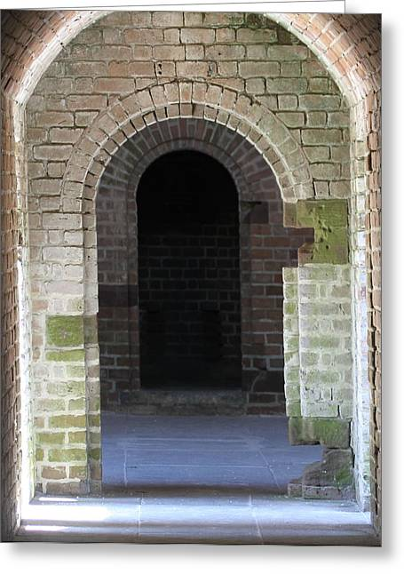 Civil War Battle Site Greeting Cards - Fort Clinch Tunnel Greeting Card by Cathy Lindsey