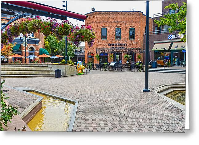 Fort Collins Greeting Cards - Fort Collins Old Square Greeting Card by Keith Ducker