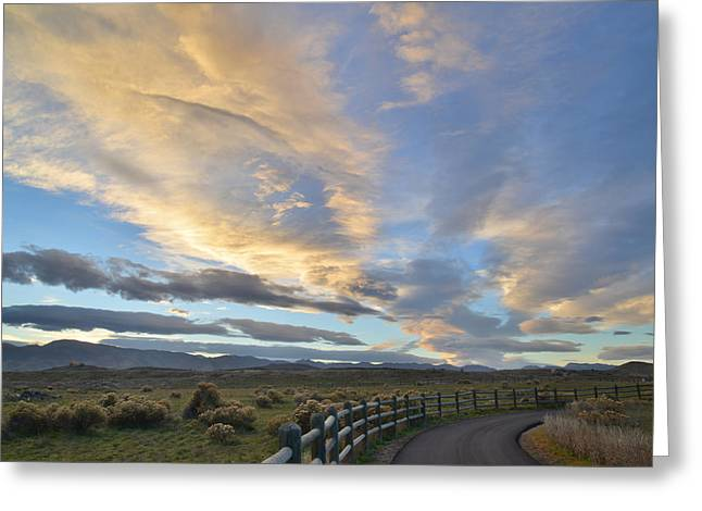 Fort Collins Sunset Greeting Card by Ray Mathis