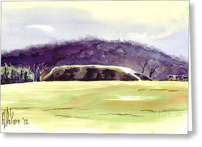 The Hills Mixed Media Greeting Cards - Fort Davidson Battlefield Mid Day Greeting Card by Kip DeVore