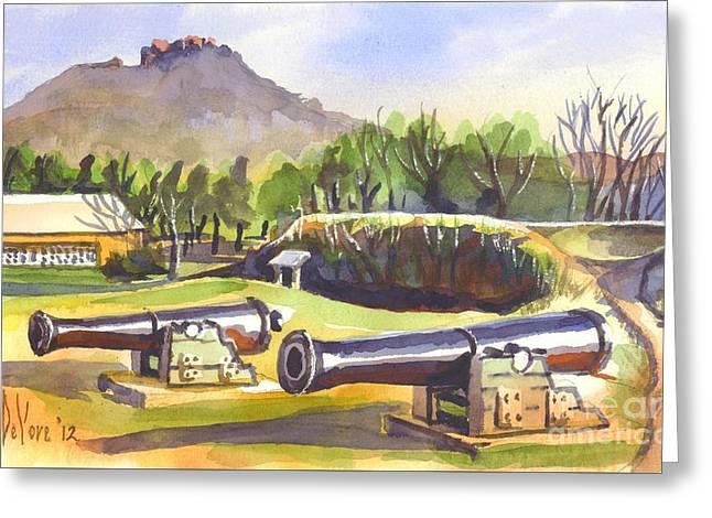 Fort Davidson Cannon Greeting Card by Kip DeVore