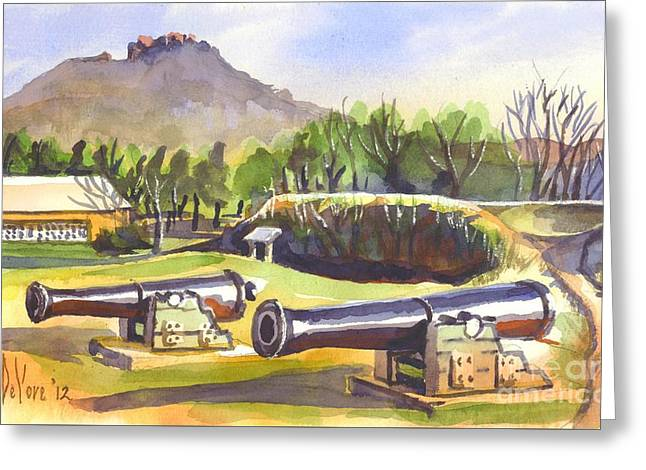 Knob Mixed Media Greeting Cards - Fort Davidson Cannon Greeting Card by Kip DeVore