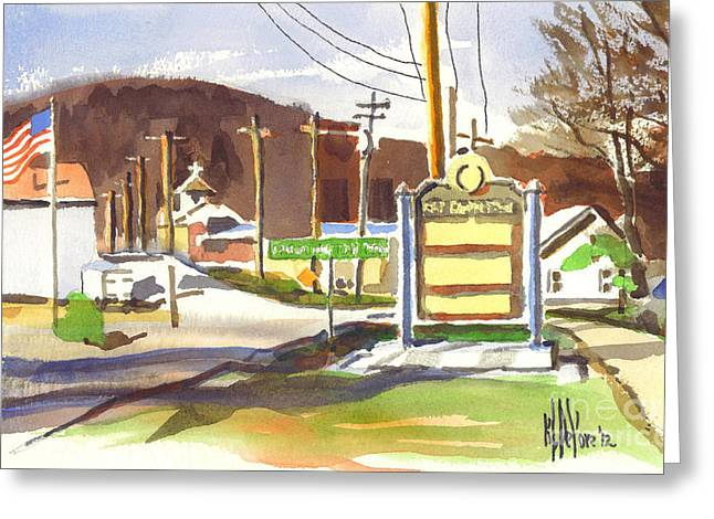 Knob Mixed Media Greeting Cards - Fort Davidson Memorial Pilot Knob Missouri Greeting Card by Kip DeVore