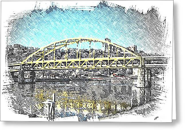 Fort Duquesne Bridge Greeting Card by Spencer McKain