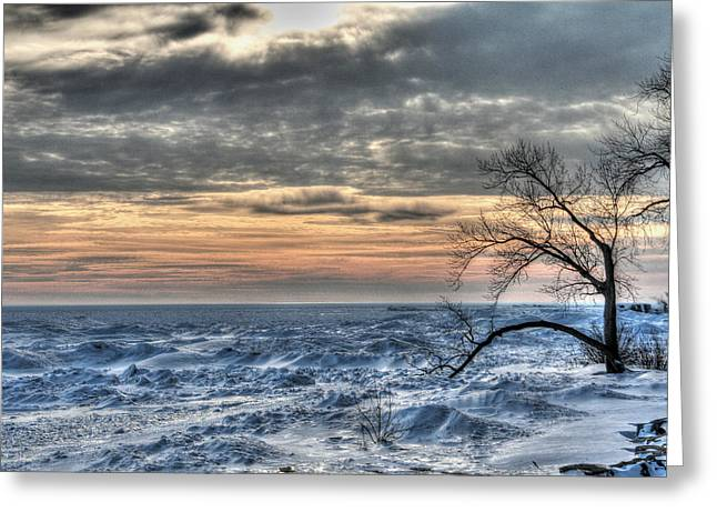 York Beach Greeting Cards - Fort Erie Sunset Greeting Card by Heather Allen