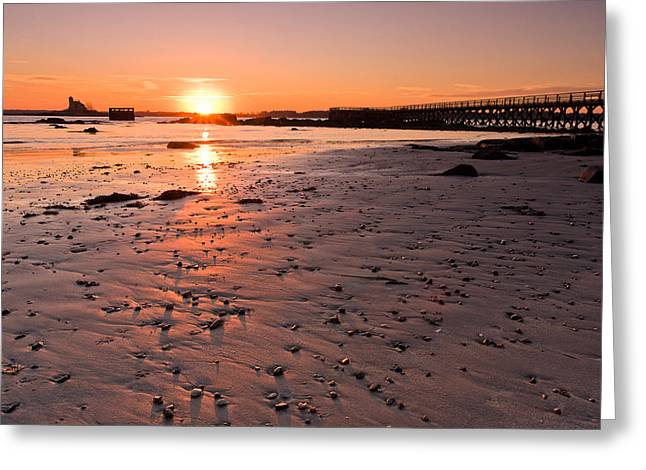 Fort Foster Sunset Greeting Card by Jeff Sinon
