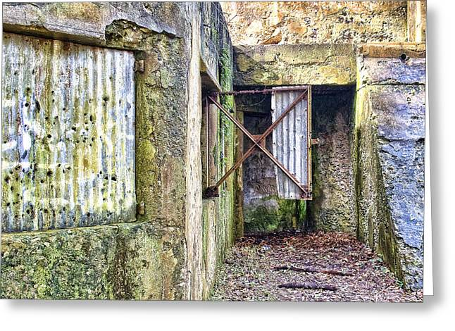 St. Helena Island Greeting Cards - Fort Fremont Open Window Greeting Card by Scott Hansen