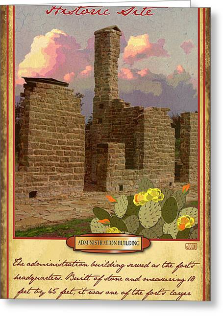 Historic Site Greeting Cards - Fort Griffin Historic Site Greeting Card by Jim Sanders