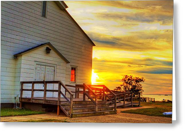 Base Path Greeting Cards - Fort Hancock At Sunset Greeting Card by Geraldine Scull