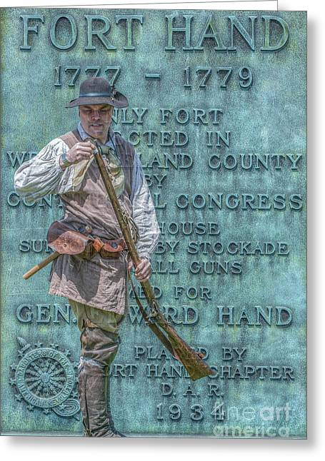 Minuteman Greeting Cards - Fort Hand Pennsylvania Marker Greeting Card by Randy Steele