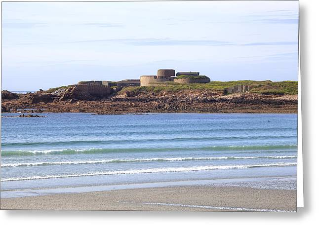 Guernsey Greeting Cards - Fort Hommet - Guernsey Greeting Card by Joana Kruse